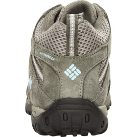 Columbia Redmond Mid Waterproof Shoes Women light grey / sky blue